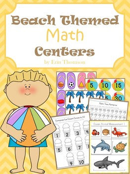 Beach Themed Math Centers