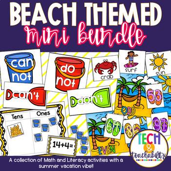 Beach Themed Mini Bundle - ELA/Math