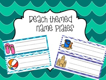 Beach Themed Nameplates
