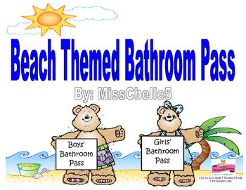 Beach Themed Restroom Procedure Pass