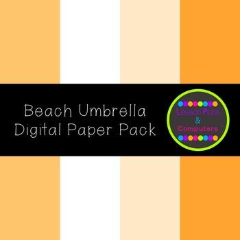 Beach Umbrella Digital Paper Pack