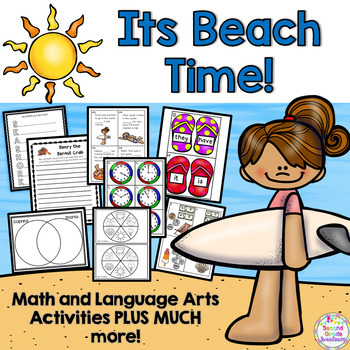Beach Unit (End of the Year Language Arts and Math Activities)