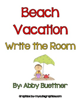 Beach Vacation Write the Room