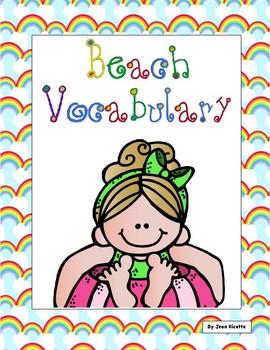 Beach Vocabulary - Writing Resource - FREE
