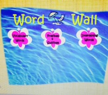 Beach Word Wall
