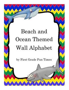 Beach and Ocean Theme Wall Alphabet