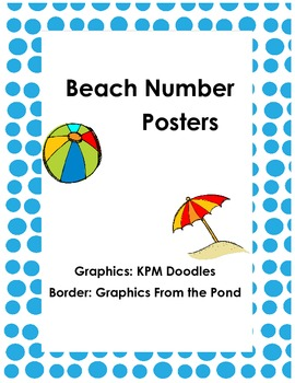 Beach or Ocean Theme Number Posters