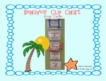 Beach-theme Behavior Clip Chart