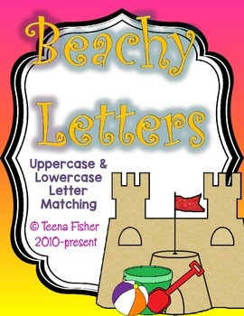 Beachy Letters - Uppercase and Lowercase Alphabet Matching