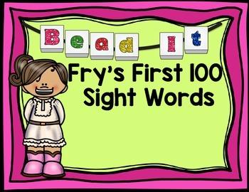 Bead It- Sight Word Frys Words Work Mats