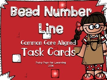 Bead Number Line Task Cards (Common Core Aligned)