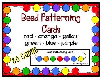 Bead Patterning Strip Cards - 15 patterns - Fine Motor Fun