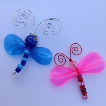 Beaded Dragonfly Ornament
