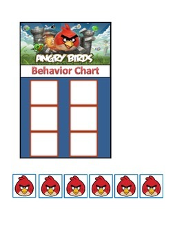 Behavior Chart (6 Boxes) Angry Birds