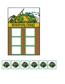 Behavior Chart (6 Boxes) Teenage Mutant Ninja Turtles