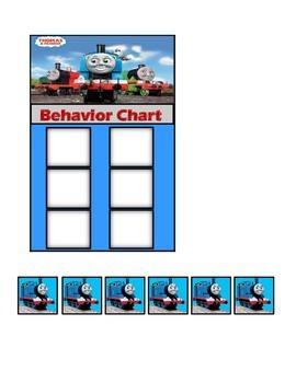 Behavior Chart (6 Boxes) Thomas the Tank Engine