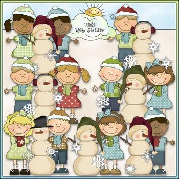 Bean Pole Kids: Love The Snow Clip Art - CU Colored Clip Art