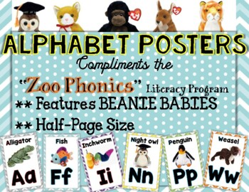 Zoo Phonics Alphabet Wall Cards {Beanie Babies}