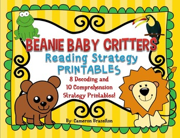 Beanie Baby Reading Strategies (Decoding and Comprehension)
