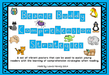 Beanie Buddy Comprehension Strategy Posters -Free