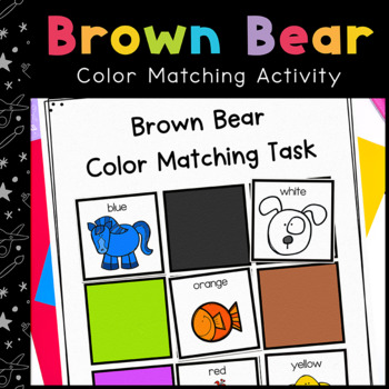 Bear Color Matching Folder Game for students with Autism