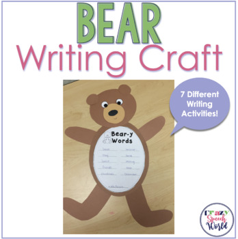 Bear Craft Activities for Speech Therapy