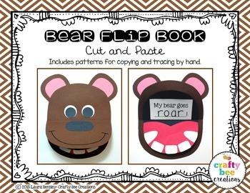 Bear Flip Book Cut and Paste