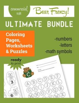"Bear Frenzy! (""The Bundle""), Math, Reading, Numbers, Handw"
