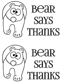 Bear Says Thanks Literacy Center Book