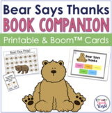 Bear Says Thanks:  Speech & Language Activities