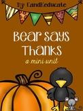 Bear Says Thanks- book companion