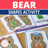 Shape Matching Activity:  Bear Shape Sorting