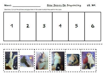 Bear Snores On Sequencing--Kindergarten Reading Street Uni