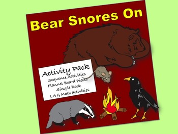 Bear Snores On Activity Pack:  sequence activites, flannel