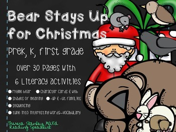 Story Activities:  Bear Stays Up For Christmas