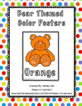 Bear Themed Color Posters