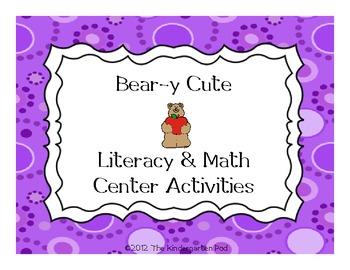 Bear Themed  Literacy & Math Activities