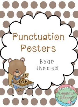 Bear Themed - Punctuation Posters