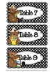 Bear-Themed Table Number Tags