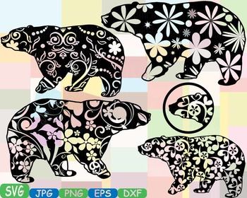 Bear Woodland Silhouette school Clipart zoo circus flower