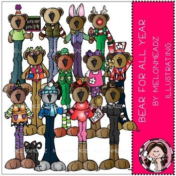 Melonheadz: Bear for all year clip art - COMBO PACK