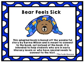 Bear is Sick Adapted Book