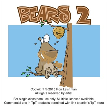 Bears Cartoon Clipart Vol. 2
