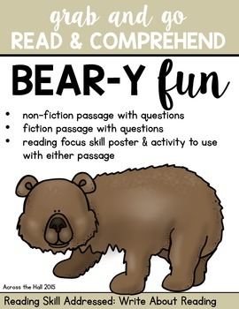 Bears Comprehension Activities