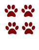 Bears and paw prints for bulletin board