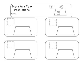 Bears in a Cave Prediction worksheet