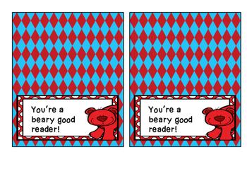 Beary Good Reader Bag Topper
