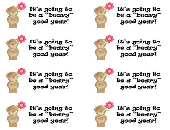 Beary Good Year Treat Tags {FREEBIE}