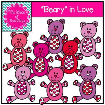 Beary In Love Clipart Set