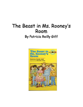 Beast in Ms. Rooney's Room Guided Reading Packet